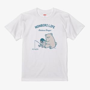 桜文鳥 熊 イラスト Tシャツ