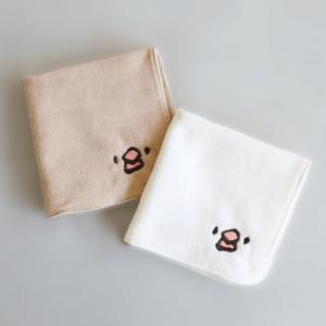刺繍ミニタオル(amycco. / 文鳥ちゃん)