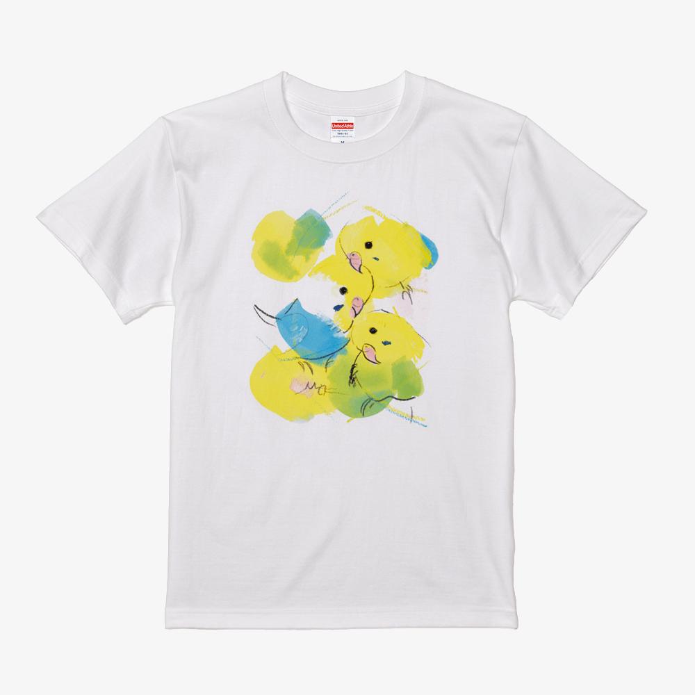 Tシャツ オクムラミチヨ セキセイインコ