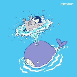 噴水の日 クジラ コウテイペンギン BIRDSTORY バードストーリー