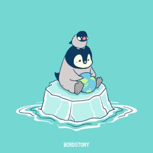 オゾン層保護のための国際デー コウテイペンギン ブンチョウ 環境問題 イラスト
