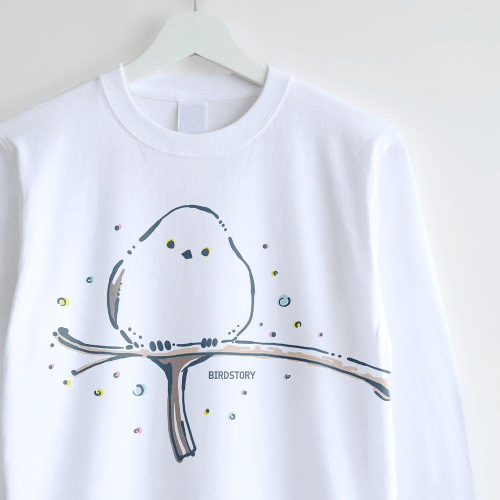 長袖Tシャツ(シマエナガ )