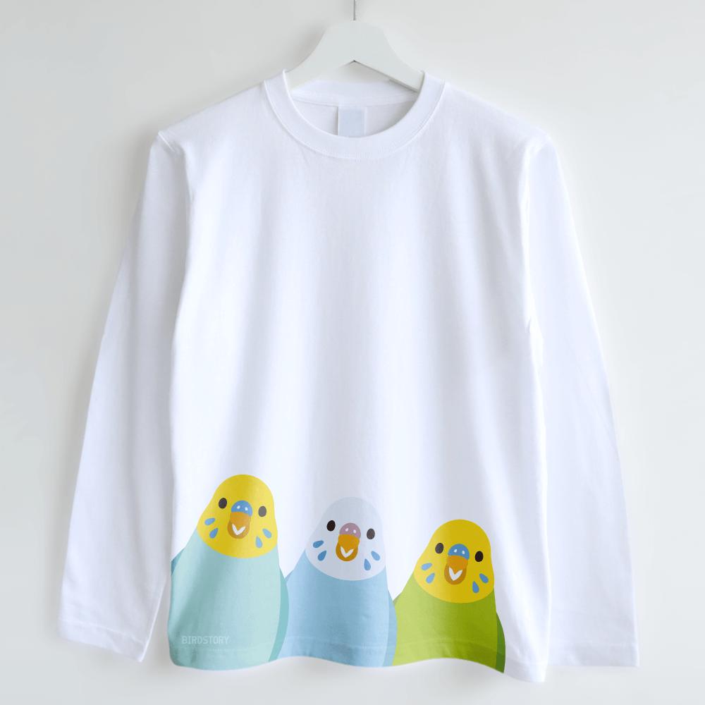 長袖Tシャツ(SMILE BIRD / セキセイインコ)