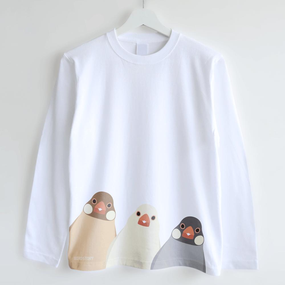 長袖Tシャツ(SMILE BIRD / 文鳥)