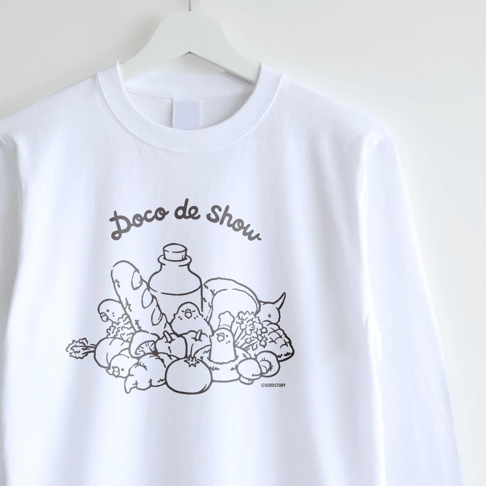 長袖Tシャツ(Doco de show / セキセイインコ)