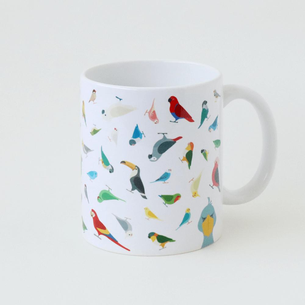 インコ オウム 文鳥 ハシビロコウ マグカップ BIRDSTORY
