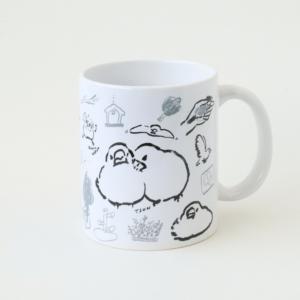 マグカップ torinotorio デザイン 文鳥の一日