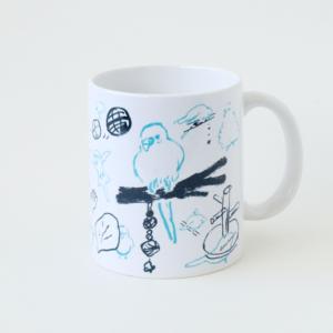 torinotorio デザイン マグカップ インコの一日 セキセイインコ