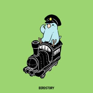 鉄道の日 蒸気機関車 マメルリハ イラスト