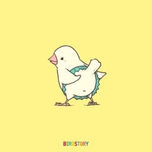 ミニスカートの日 白文鳥 イラスト