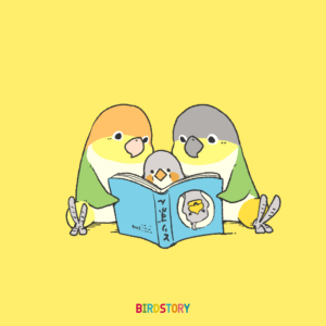 読書週間 読書の日 シロハラインコ キンカチョウ