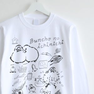 torinotorio トリノトリオ 文鳥の一日 デザイン 長袖Tシャツ
