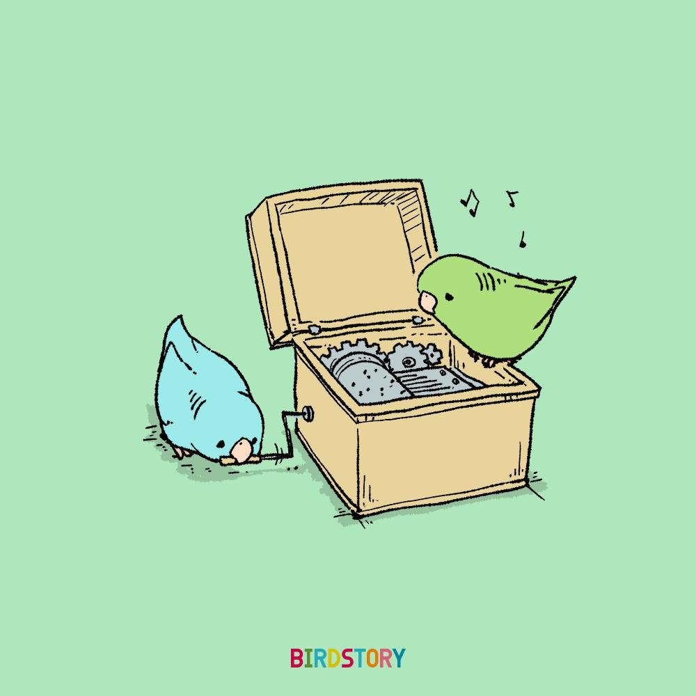 いい音オルゴールの日 サザナミインコ イラスト