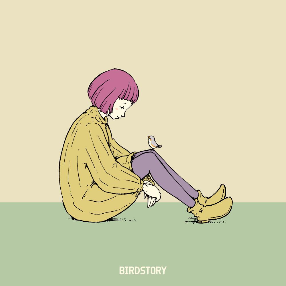 いいひざの日 女性 イラスト 秋コーデ