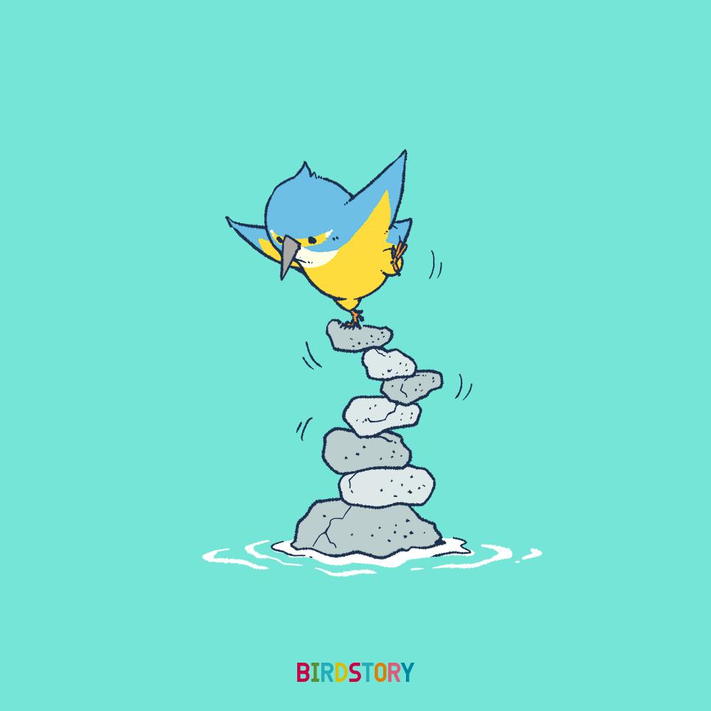 いい石の日 カワセミ野鳥のイラスト