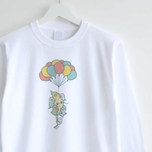 長袖Tシャツ(TOBERU KEDONE 飛べるけどねバルーン)
