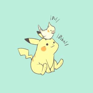 ポケモンピカチュウ ポケモンデー ファンアート オカメインコ Pokemon