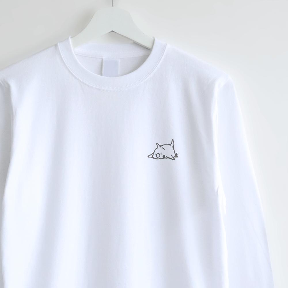 長袖刺繍Tシャツ(おひるね / オカメインコ)