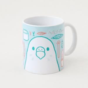 セキセイインコグッズ 飼育用品イラストのマグカップ