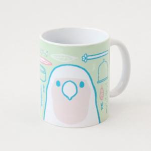 コザクラインコグッズ 飼育用品イラストのマグカップ