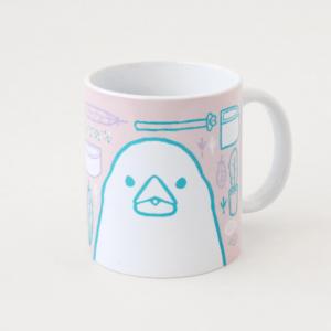 文鳥グッズ 飼育用品イラストのマグカップ