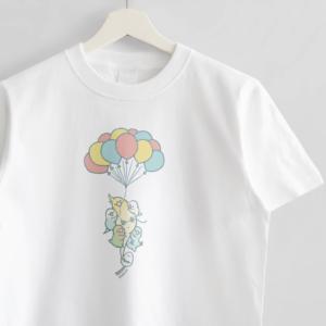 Tシャツ バルーンでふわふわ空を飛ぶ