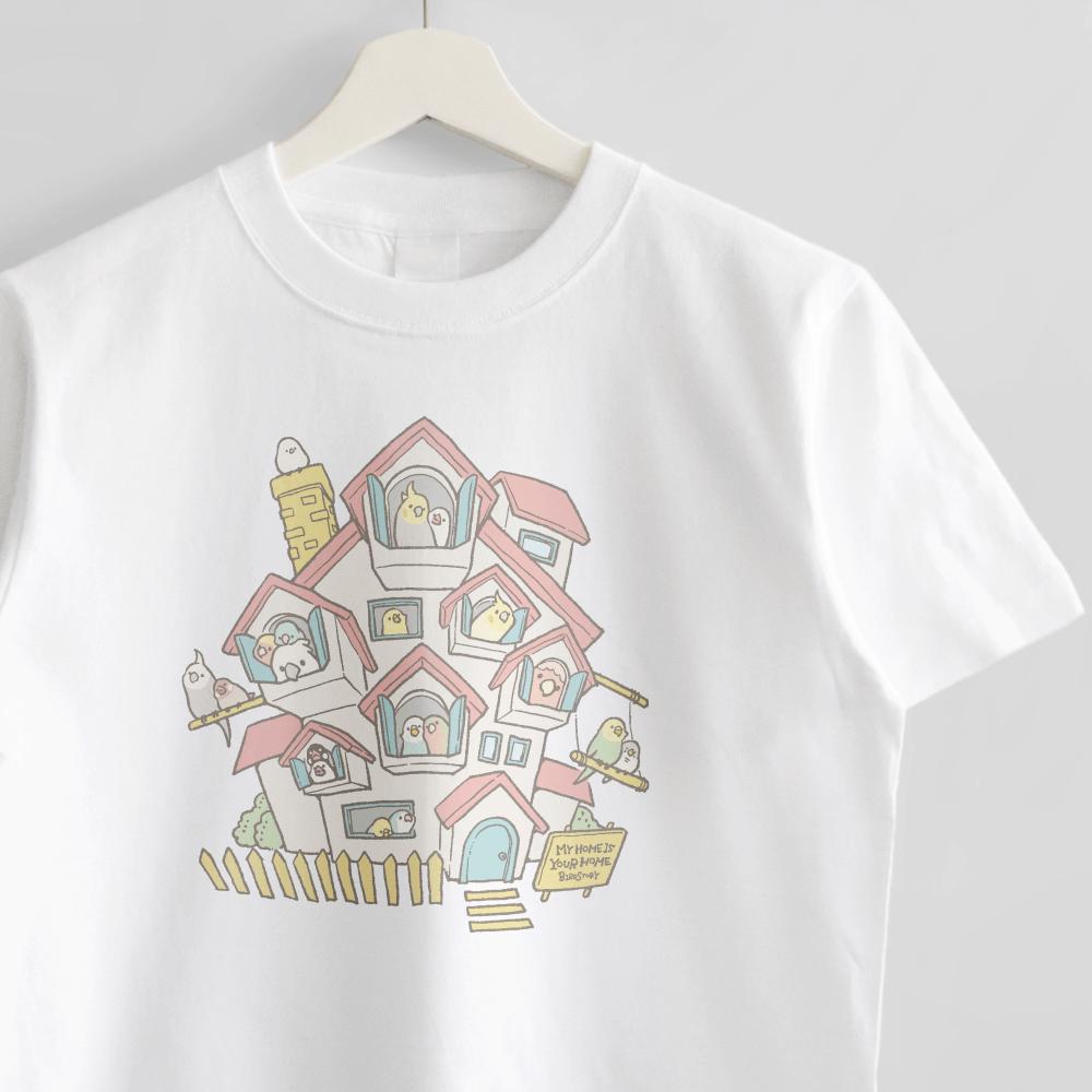 お家 マイホームデザイシャツン ことりTシャツ