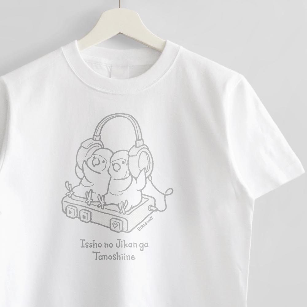 ヘッドホンミュージックのコザクラインコTシャツ