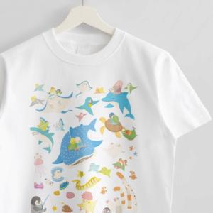 水族館 ジンベイザメやイルカ Tシャツ
