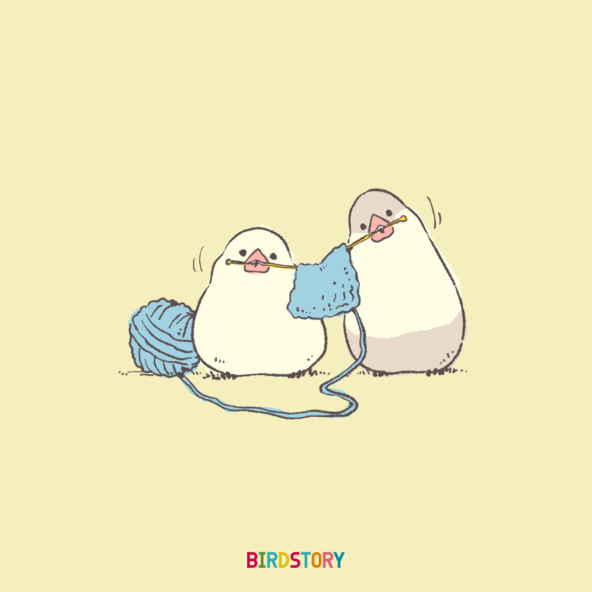 文鳥 趣味の日あみもの