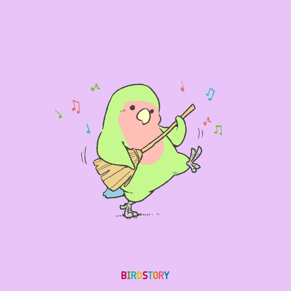 フォークソング アコースティックギター ほうきギターイラスト