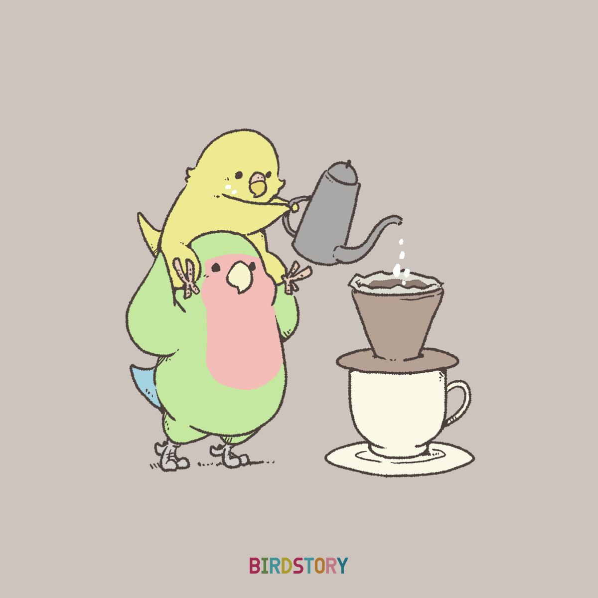 喫茶店の日 ドリップコーヒーイラスト BIRDSTORY