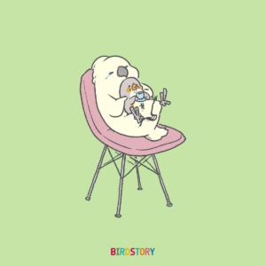 良い椅子の日 タイハクオウム キンカチョウ