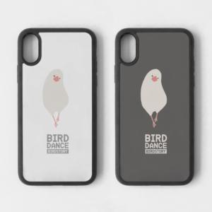 バードダンス 白文鳥 iPhone スマホケース