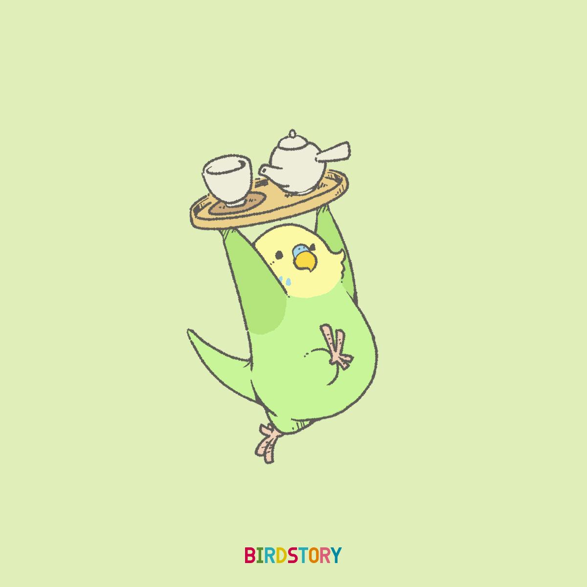 緑茶の日 セキセイインコ お茶