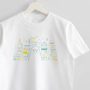 スマイルバード セキセイインコさんと飼育グッズのデザインTシャツ