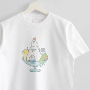スイーツパフェイラストTシャツ ことり バードストーリー