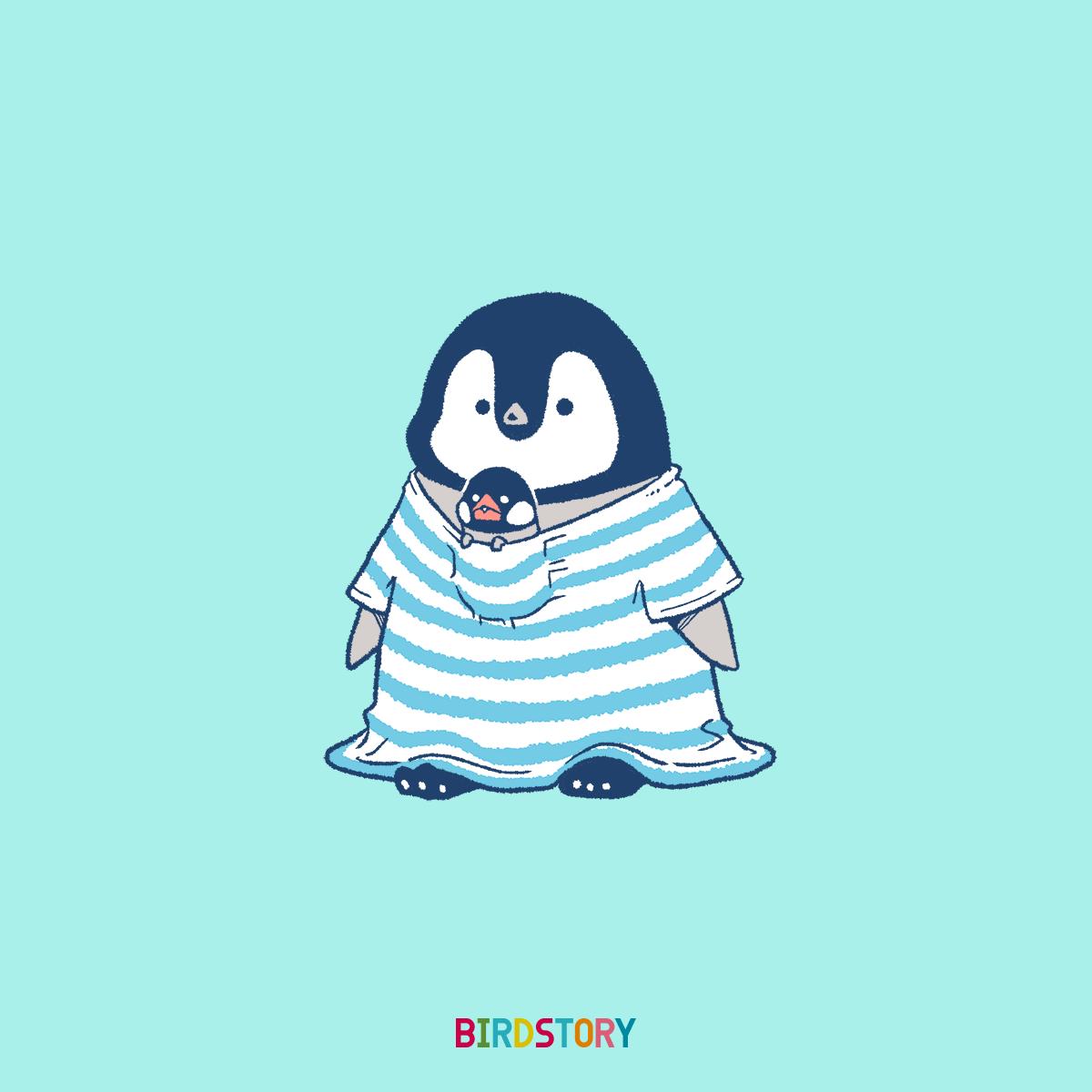 Tシャツの日 コウテイペンギンのイラスト