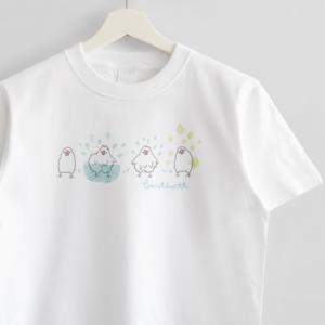 文鳥 birdbath Tシャツ amycco.