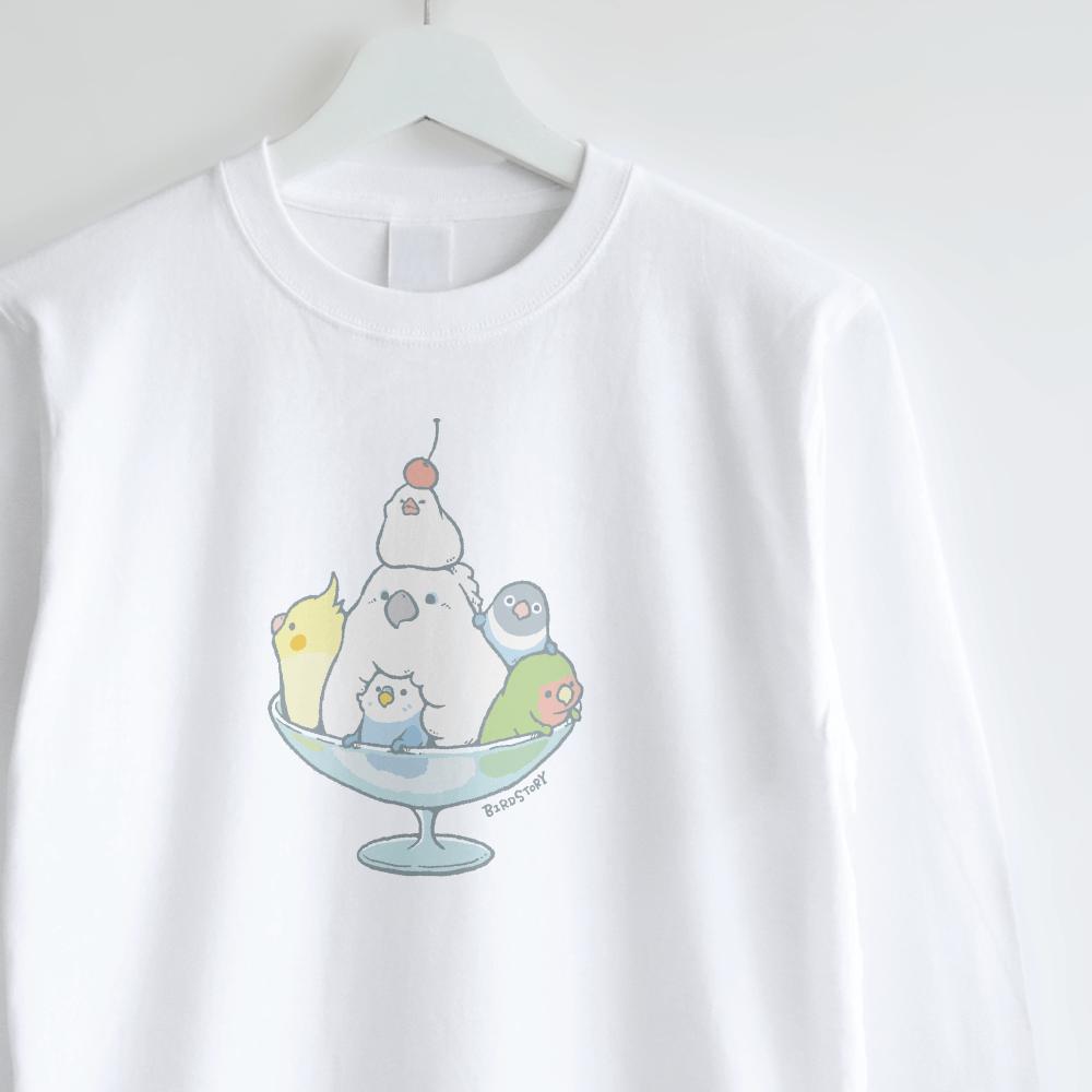 スイーツパフェイラストロングTシャツ ことり バードストーリー