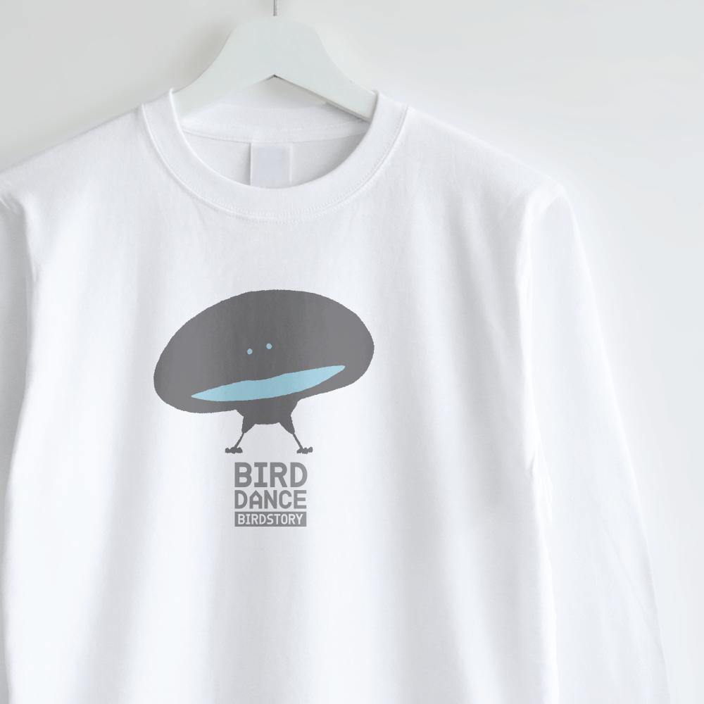 長袖Tシャツデザイン BIRD DANCE オオカタカケフウチョウ