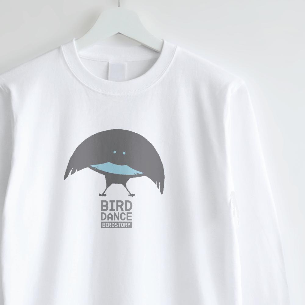 ロングTシャツデザイン BIRD DANCE フォーゲルコップカタカケフウチョウ