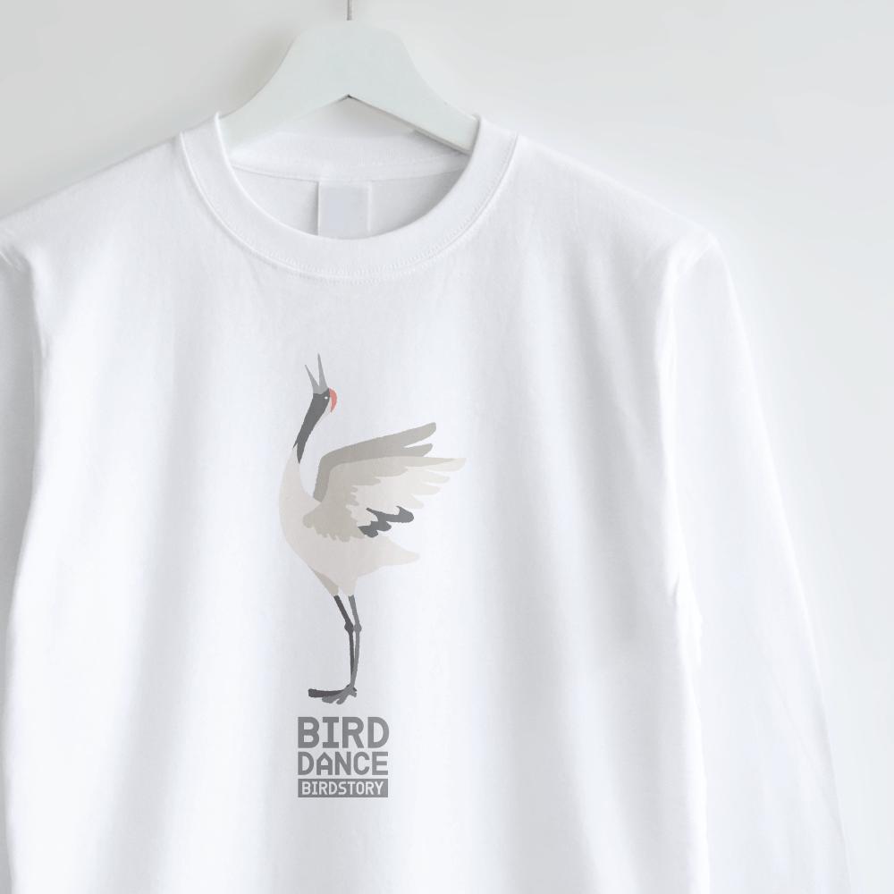 ロングTシャツデザイン BIRD DANCE タンチョウ