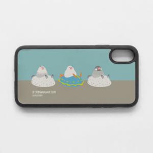 スマホケース 水族館デザイン文鳥&アオウミウシ&ゴマフビロードウミウシ