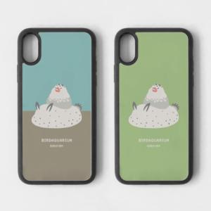スマホケース パイド文鳥&ゴマフビロードウミウシ