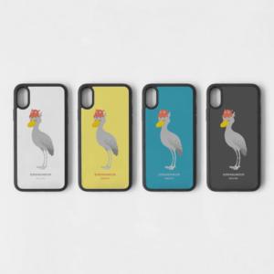 スマホケース 鳥の水族館 ハシビロコウ&メンダコ