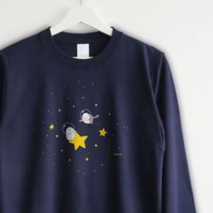 シマエナガ 長袖Tシャツ 宇宙