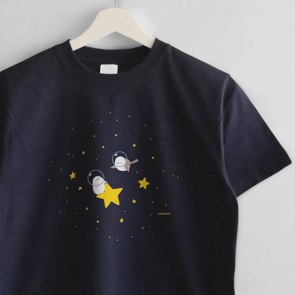 シマエナガ Tシャツ 宇宙
