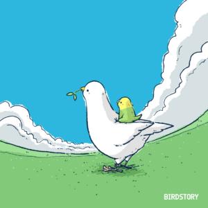 終戦の日 幸せを呼ぶハト