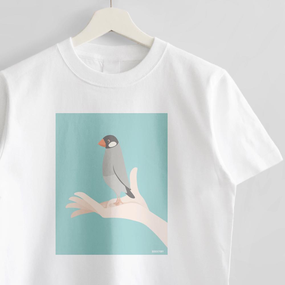 ノーマル文鳥 Tシャツ 手タクシーTAXI